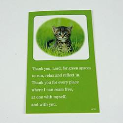 Religious cat bookmark
