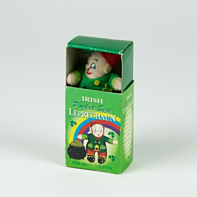 Lucky leprechaun matchbox charm