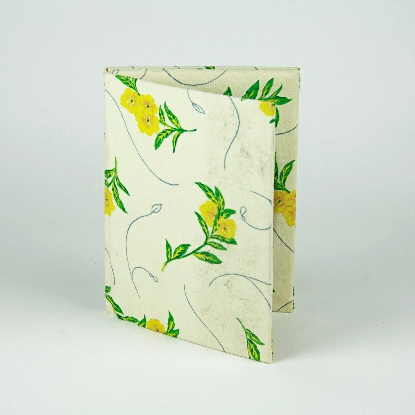 Fabric floral photo album