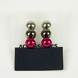 Beaded stud earrings