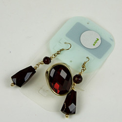 Jewel ring and earring set
