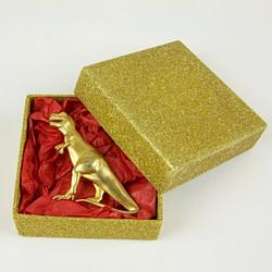 T-Rex gold brooch