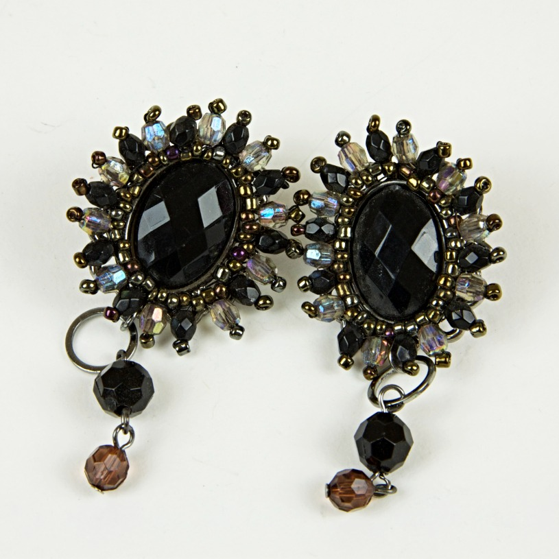 Large jewel drop earrings