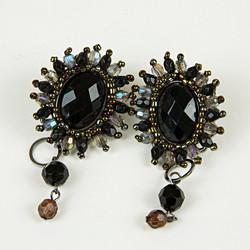 Large jewel drop earrings