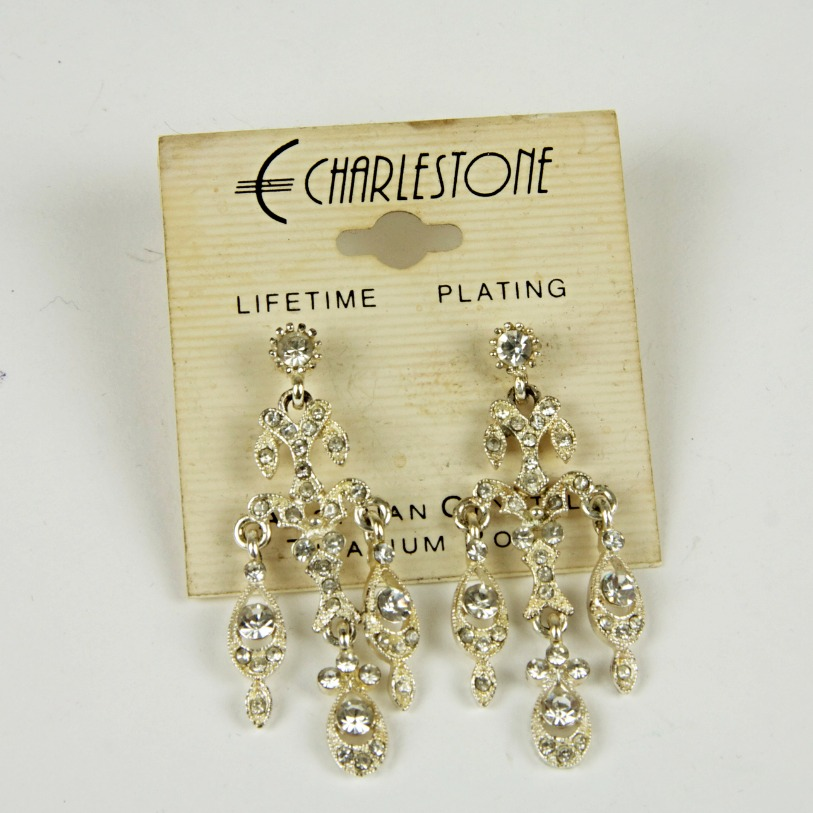 Vintage sparkle drop earrings