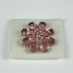 Rose sparkle flower brooch