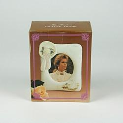 80's ceramic ladies hat photo frame