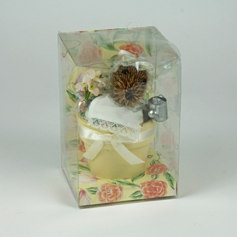 Hedgehog potpourri decoration