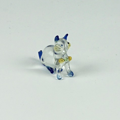 Glass mini cat ornament