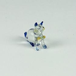 Glass mini cat ornament