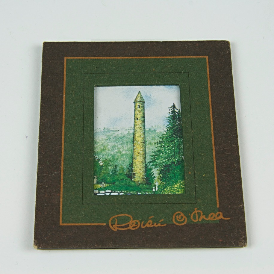 Irish tower reproduction framed