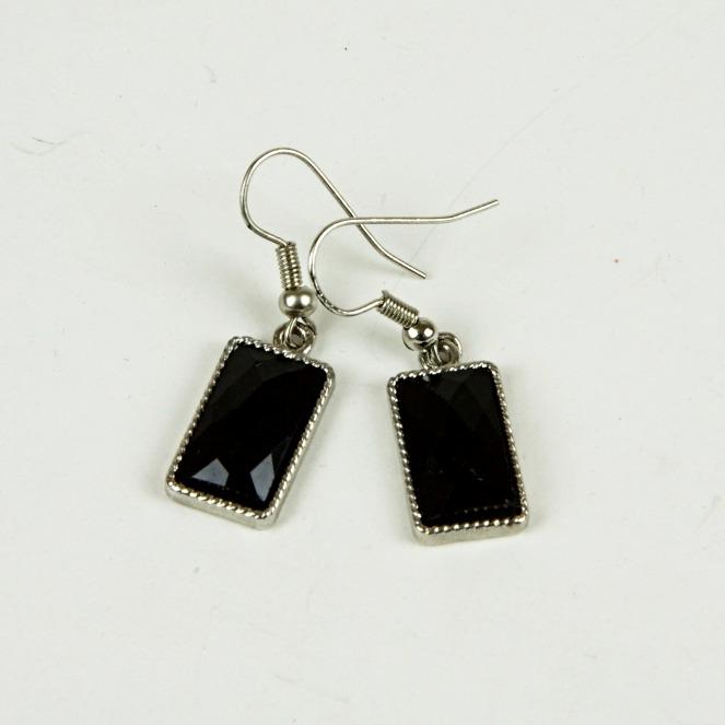 Square bead drop earrings