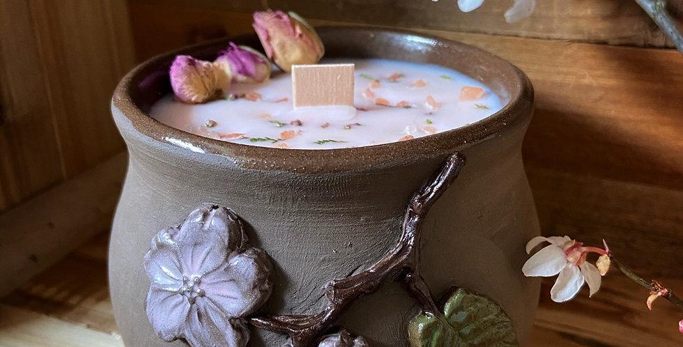 Sakuras du Verger - Bougie en céramique
