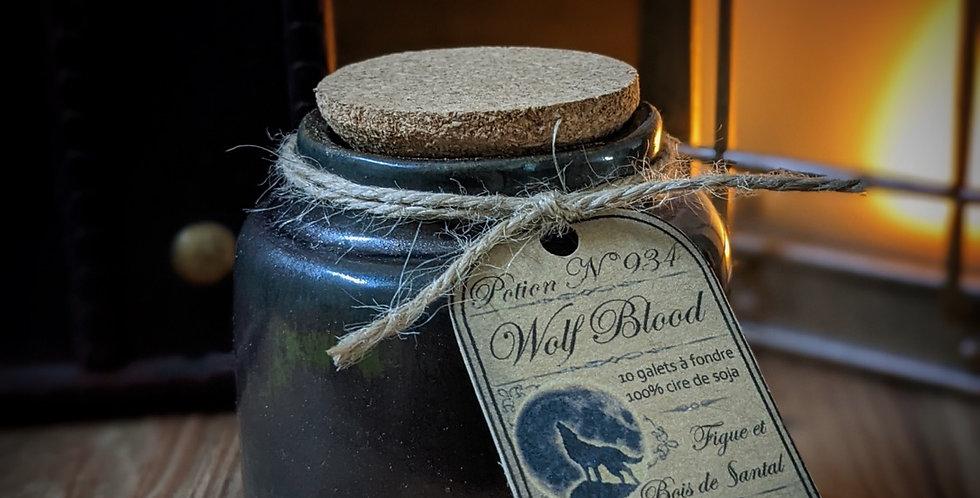 Potion Sang de loup - Pot en céramique et ses 10 galets de cire