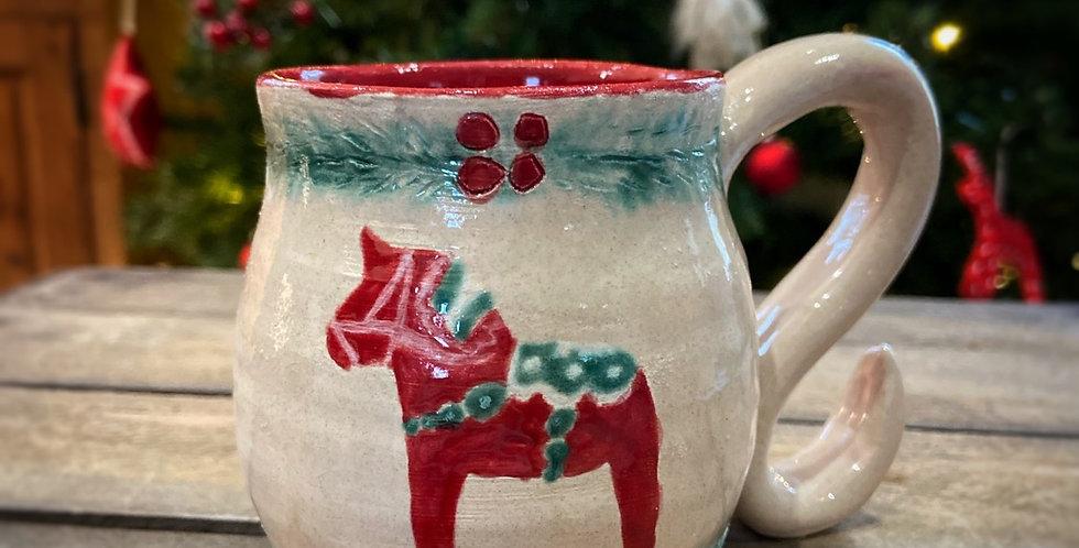 """Mug en céramique """"Dala Horse"""""""