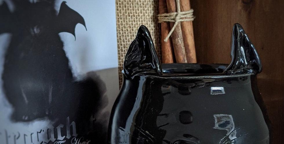 Dracuchat - Bougie en céramique