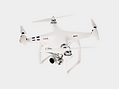 White and Silver Drone