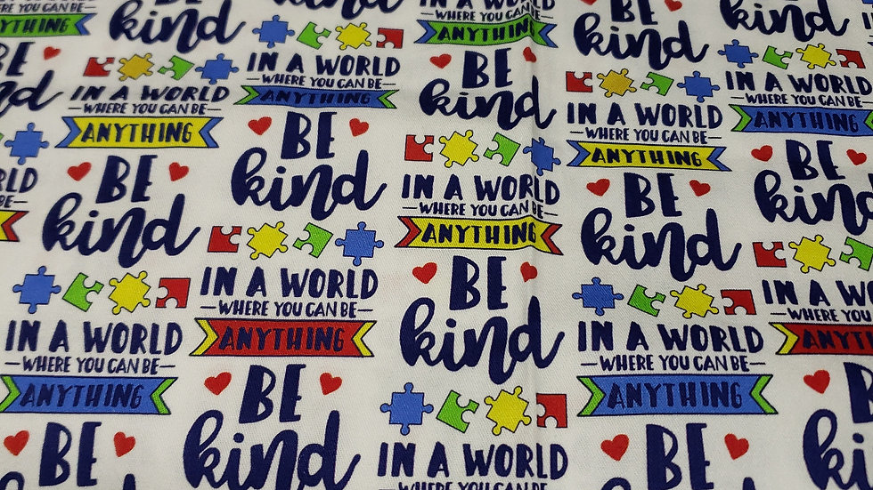 Be Kind Domino Fitted Mask