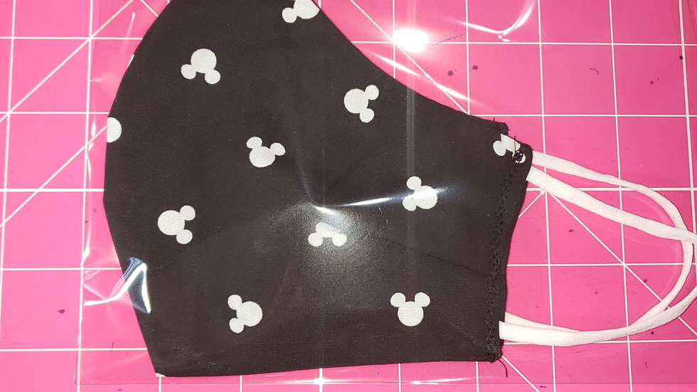 Black and White Mickey Mouse Pleated Masks