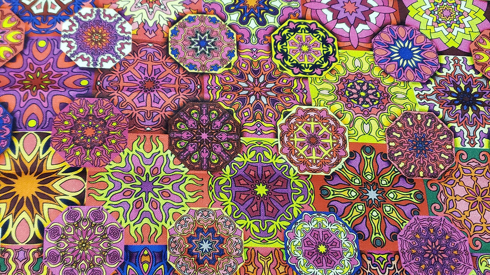 Kaleidoscope floral mask 😷