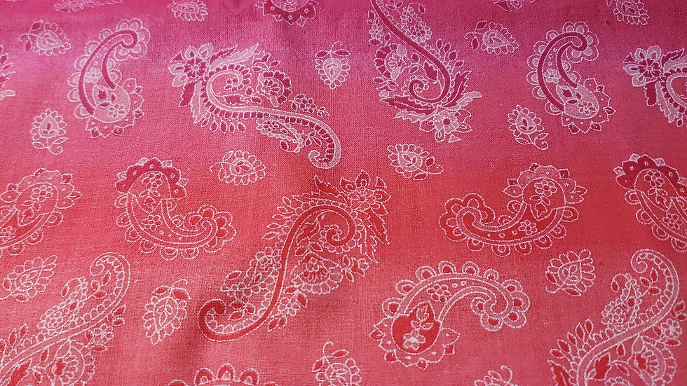 Pink Tie Dye Paisley