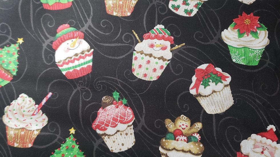Christmas Cupcakes Pleated Masks