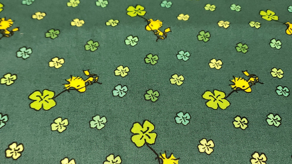 St. Patrick's Day Peanuts Woodstock and 4 Leaf Clover