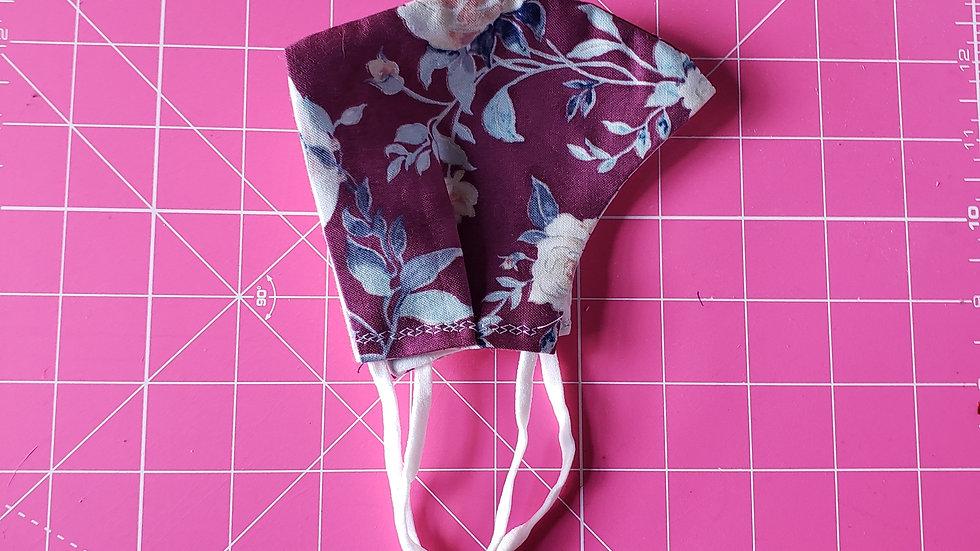 Purple Floral Mask