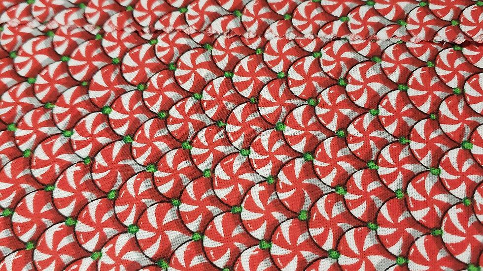 Christmas Candy Scrub Caps