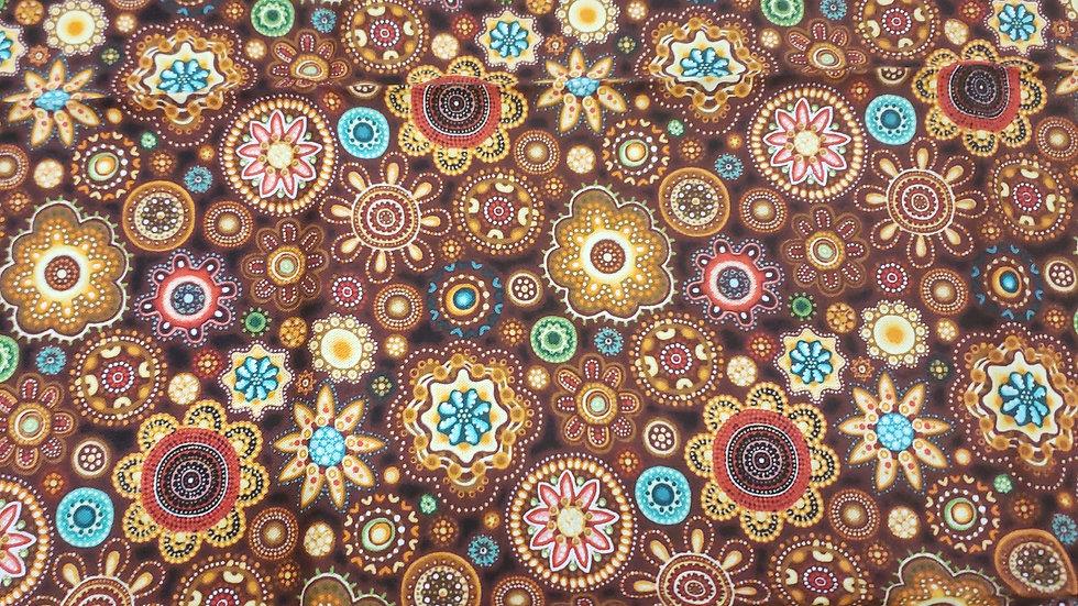 Brown flower print