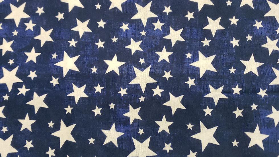 Blue and white stars