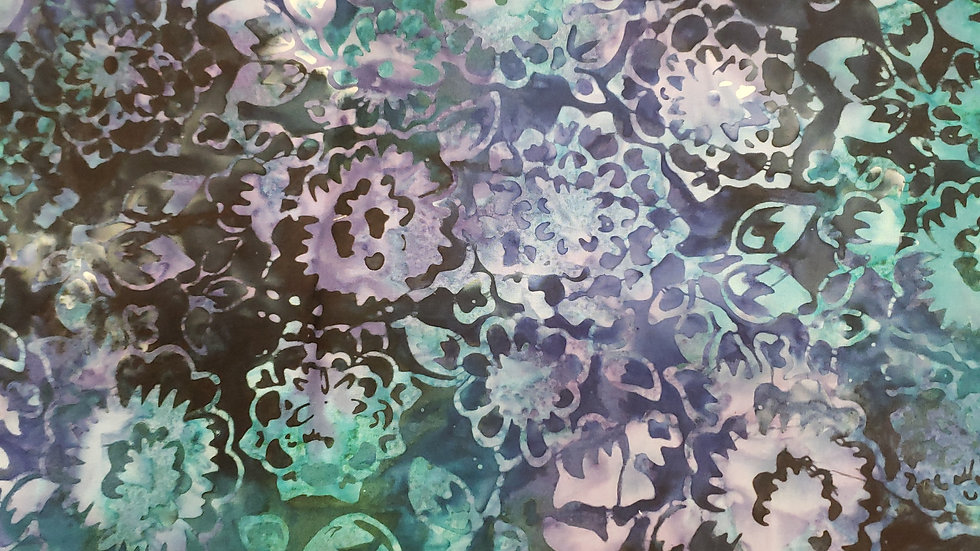 Blue and purple tiedye floral