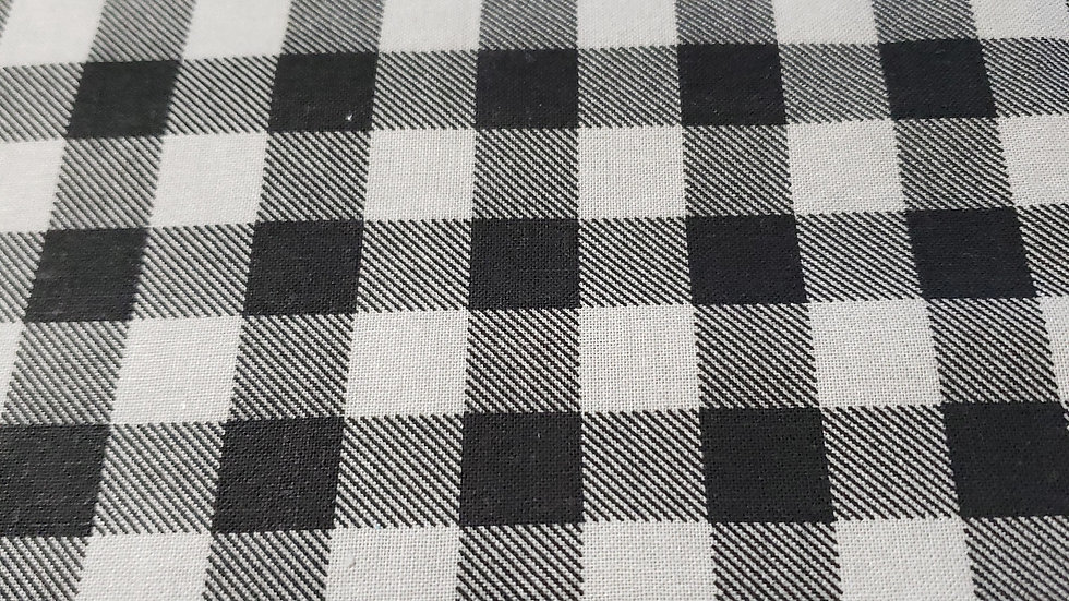 Black and Grey Checker Zippy Clutch