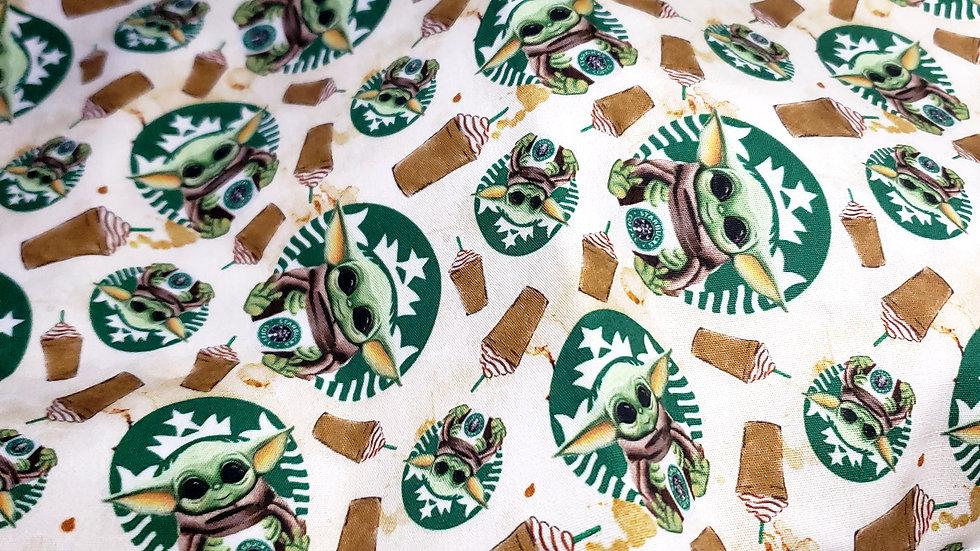 Baby Yoda Frappuccino Scrub Caps