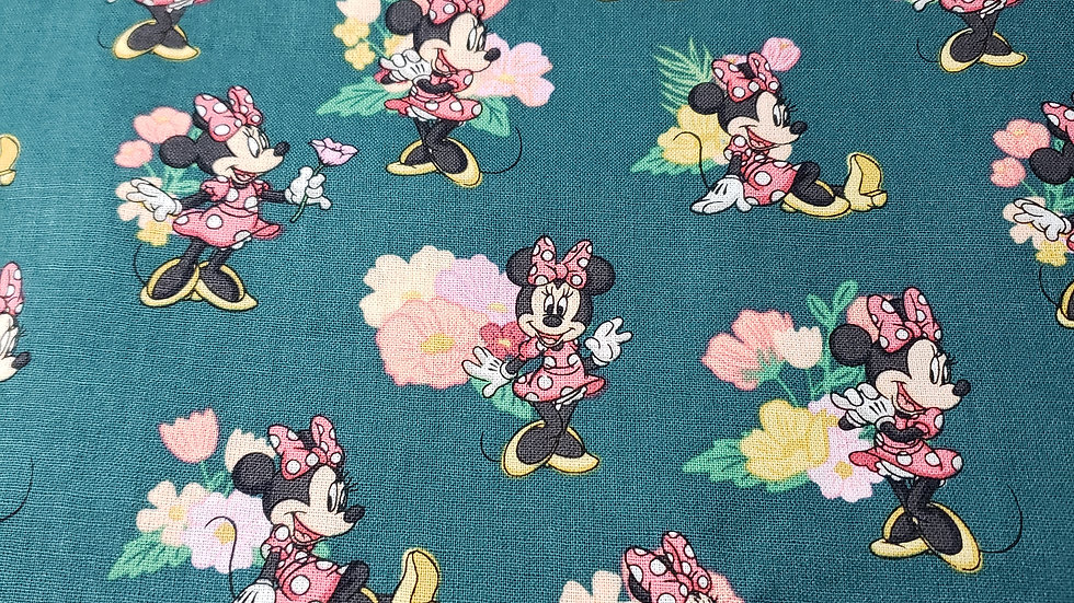 Green Minnie Mouse Floral
