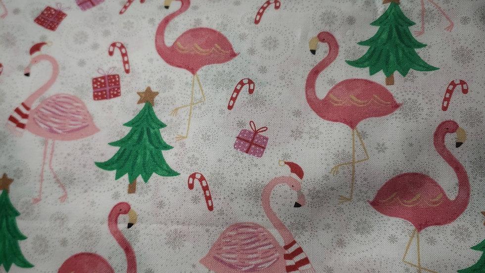 Christmas Flamingos I Scrub Caps