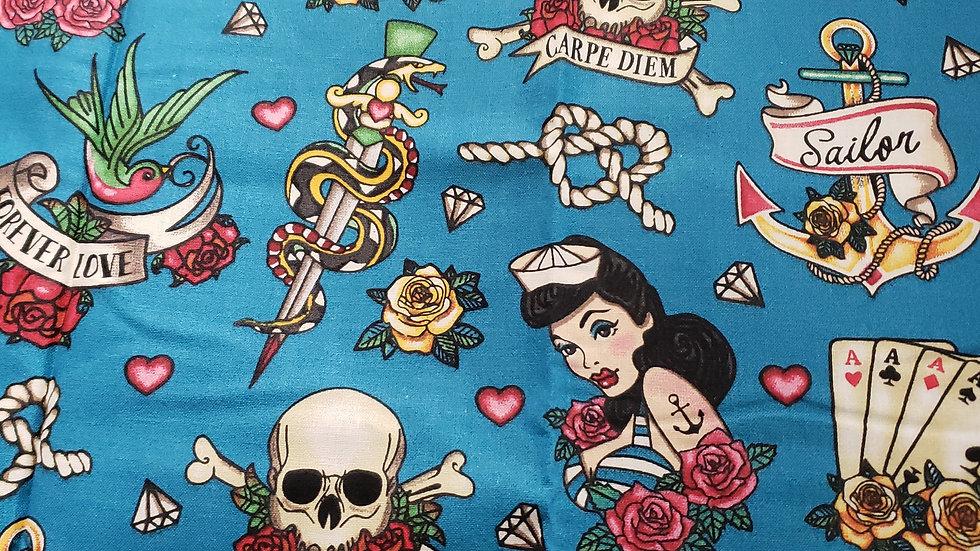 Sailor and Skulls Carpe Diem Scrub Caps