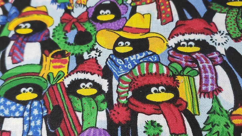 Christmas Penguins Scrub Caps