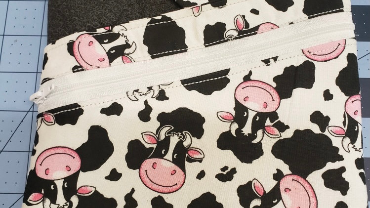 Large Book Sleeve _ Happy Cows