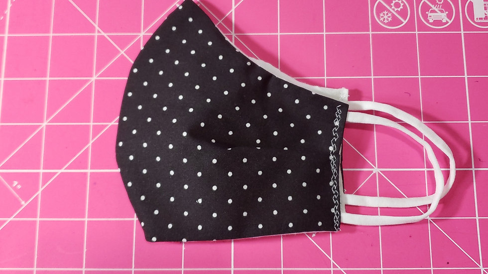 Black with White Dots Mask