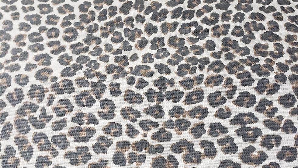 Beige & Brown Leopard Mask