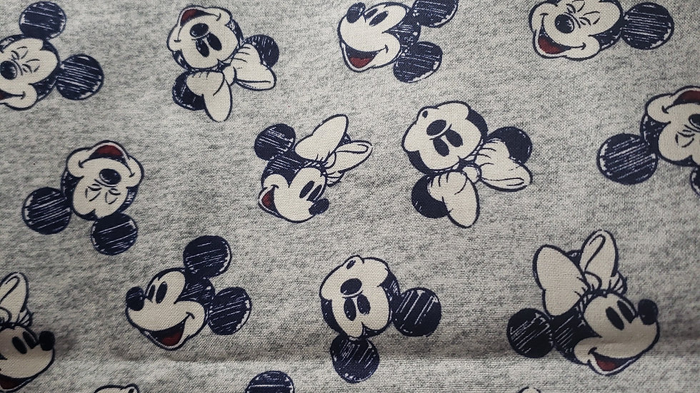 Mickey and Minnie Mouse Grey and Blue
