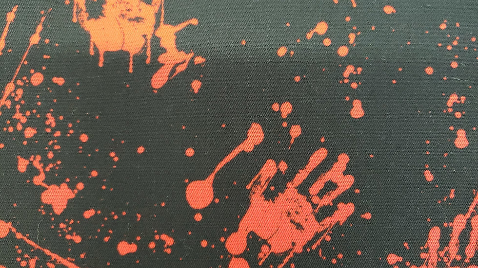 Black with Bloody Handprints