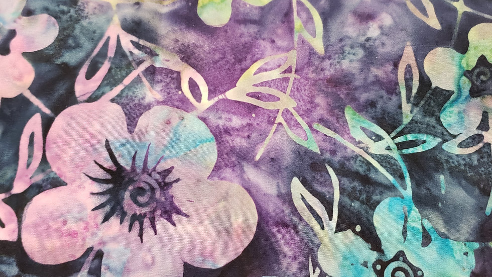Batik Floral Tye Dye Long Hair Scrub Cap