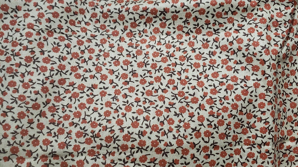 1980 Vintage Brown Floral Zippy Clutch