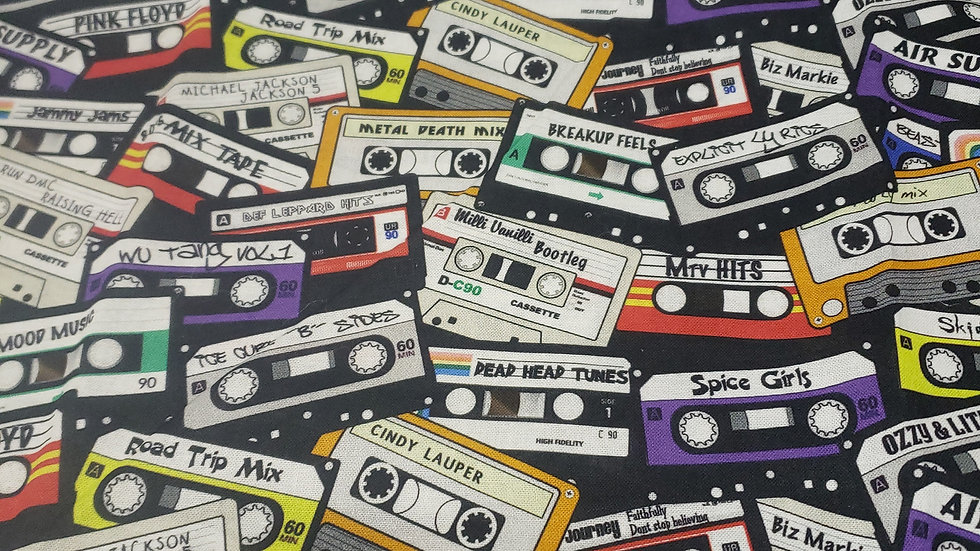 1980's Cassette tapes Pleated Masks