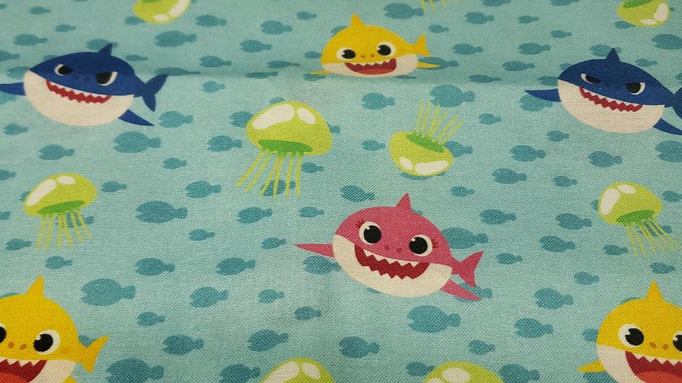 Blue Baby Shark Scrub Caps