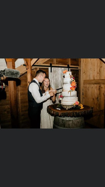 Charlie and Taylor cutting the cake!