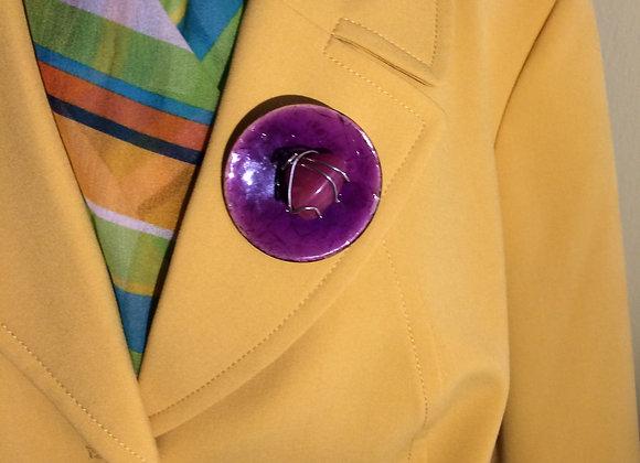 Purple Stone Craft Pin