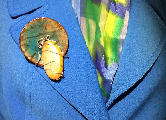 Bluz Craft Pin with Gemstone